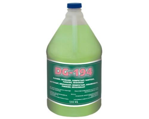 DG194 : Nettoyant, Désinfectant, Assainisseur, Fongicide et Désodorisant - 4 Litres