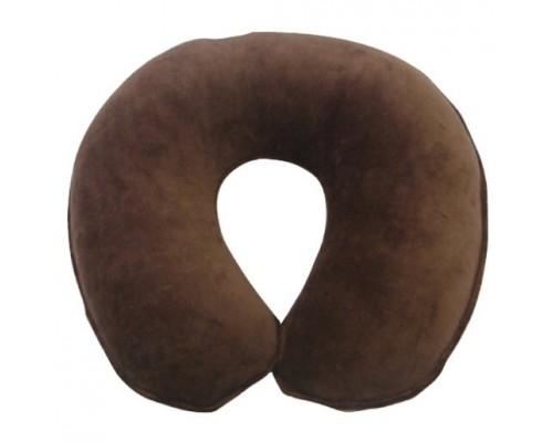 Coussin Repose visage en velours brun