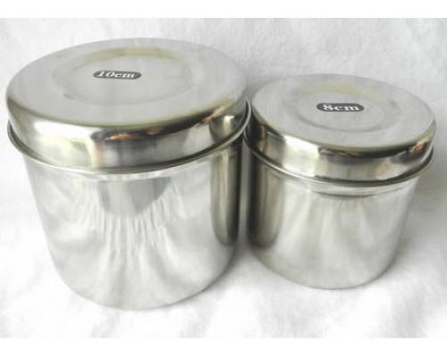 Récipient de stérilisation en inox (8 ou 10 cm)