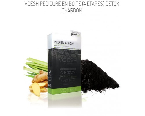 Voesh Pedicure en boite (4 etapes) Detox Charbon